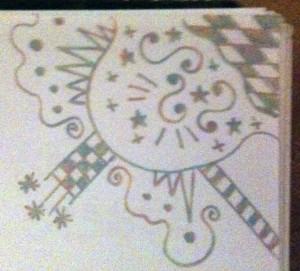 Elfin Diaries Doodle No 3 - Copyright R.Weal 2010