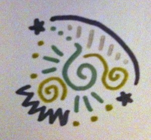 Elfin Diaries Doodle No 4 - Copyright R.Weal 2010