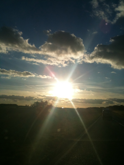 A303 Sunset - taken on the Iphone 3GS - Copyright R.Weal 2010
