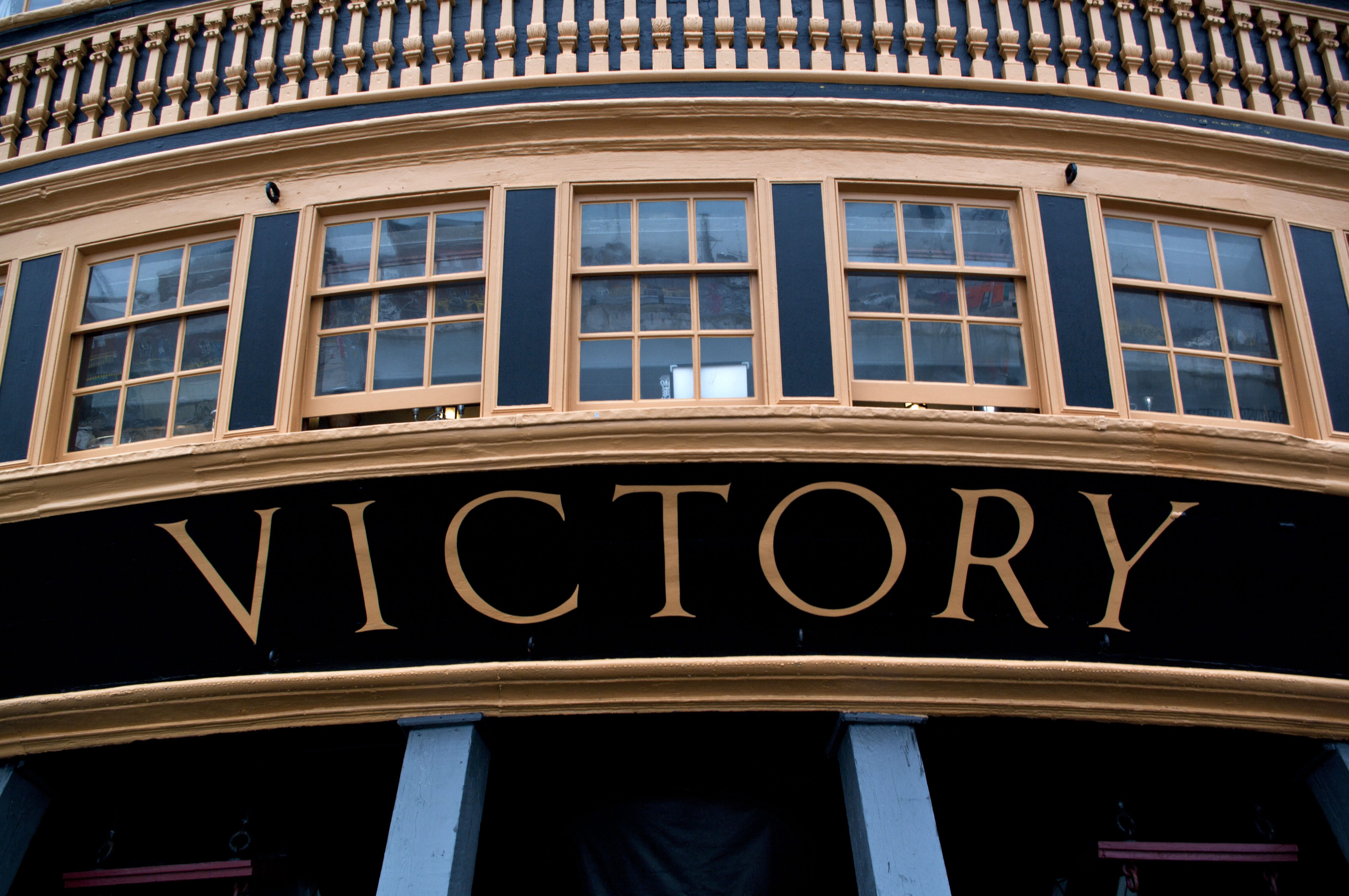 HMS Victory aft detail - Copyright R.Weal 2010