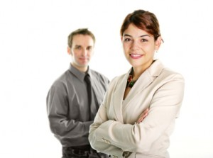 Image of man and woman in business attire