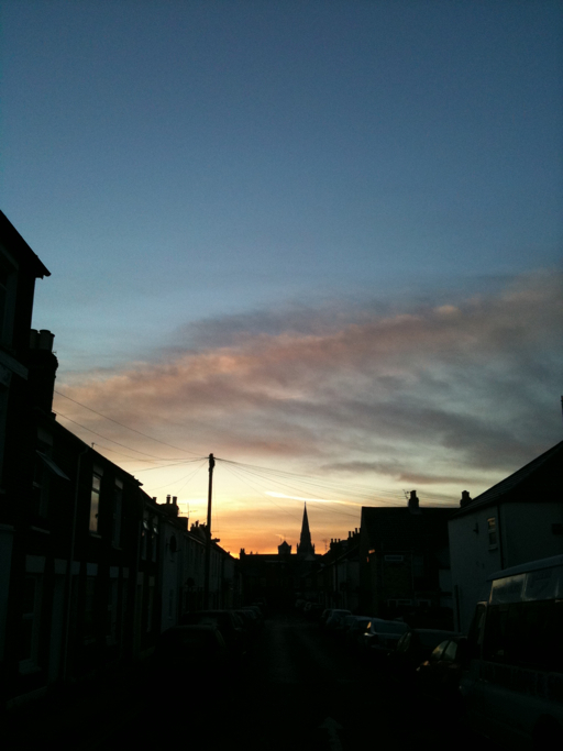 A March Salisbury Sunrise - Copyright R.Weal 2011