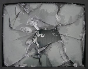 Smashed TV Screen