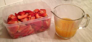 Strawberries and Juice - Copyright R.Weal 2012