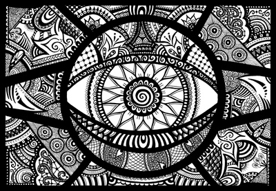 hypnotica abstract fine liner doodle art zentangle design