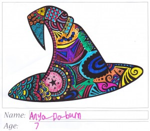 Witch's Hat Colouring Competition Entry - Anya Daburn