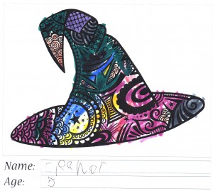 Witch's Hat Colouring Competition Entry - Eleanor