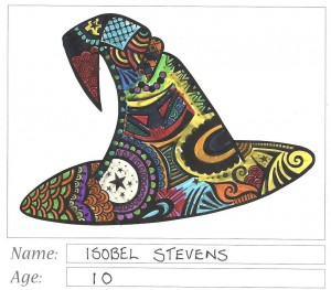 Witch's Hat Colouring Competition Entry - Isobel Stevens