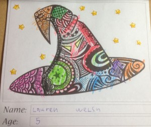 Witch's Hat Colouring Competition Entry - Lauren Welsh