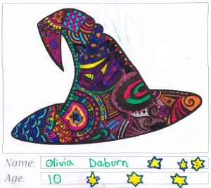 Witch's Hat Colouring Competition Entry - Olivia Daburn