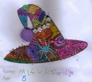 Witch's hat colouring competition - Millie Clardige - Winner 5-6 age group
