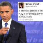 Gemma Worrall tweet Obama as Barraco Barner