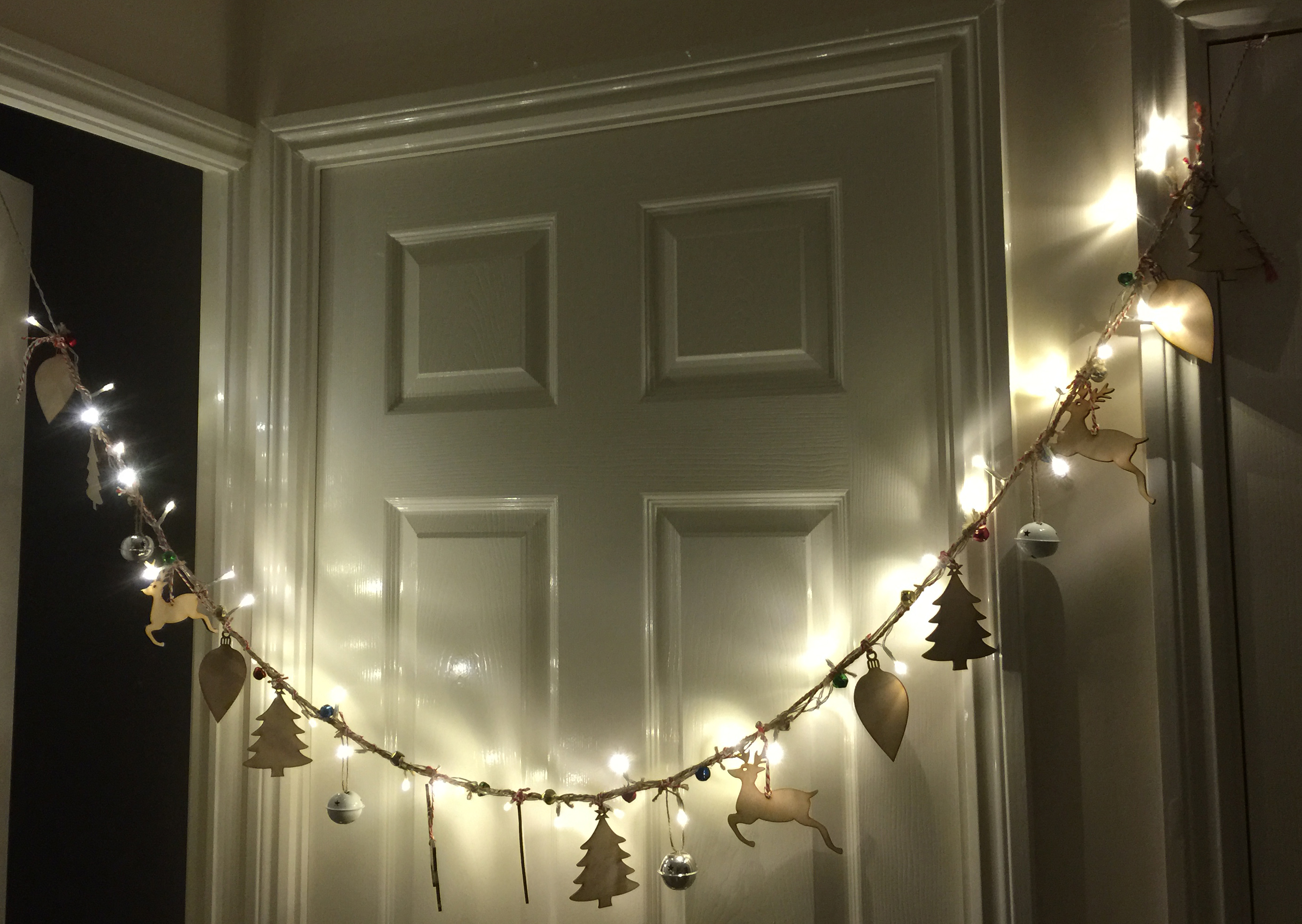 Make your own Christmas Lights Garland | Wealie's World