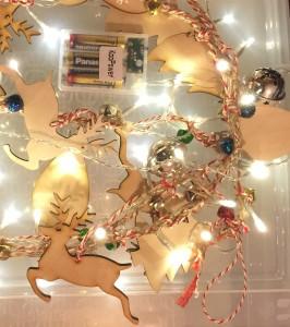 Christmas Light Garland Close Up
